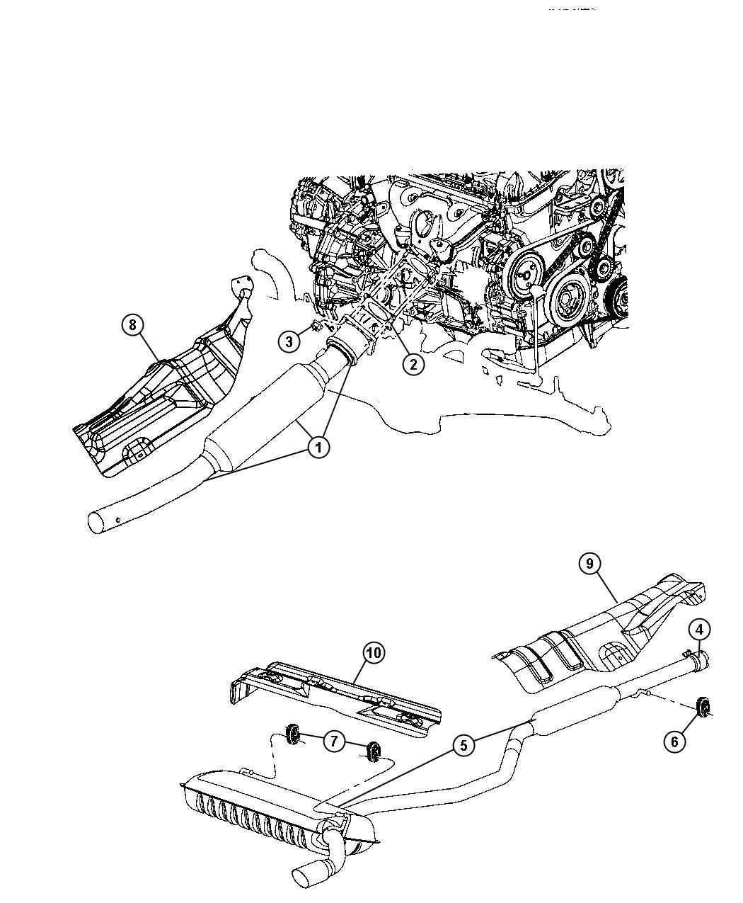 Jeep Patriot Shield Floor Pan Heat Muffler Rear Rear