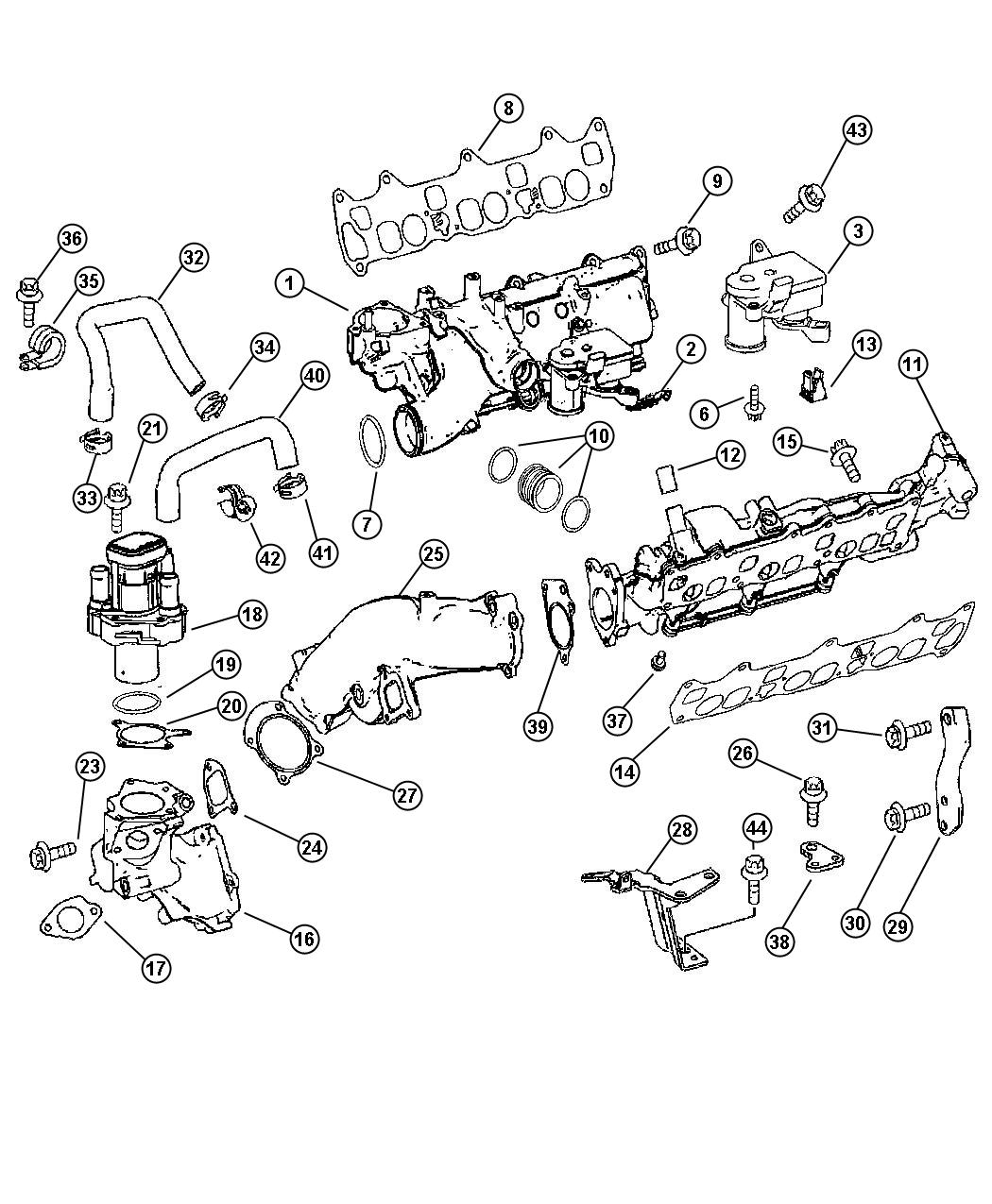 Dodge Sprinter Clip Swirl Actuator