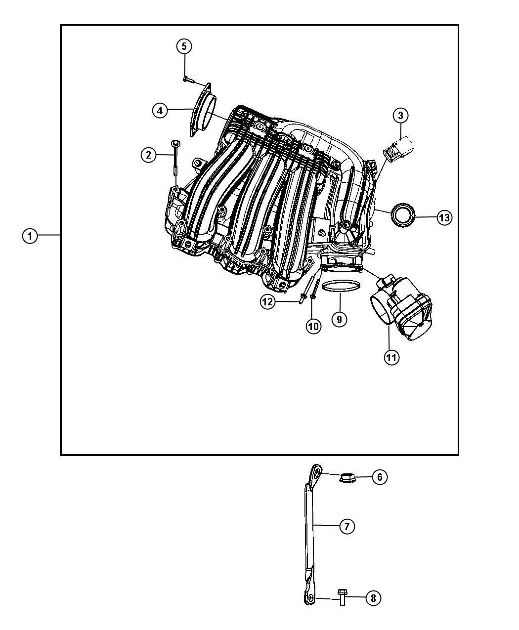 Dodge Journey Upper Intake Manifold Plenum 2 7l 2 7l
