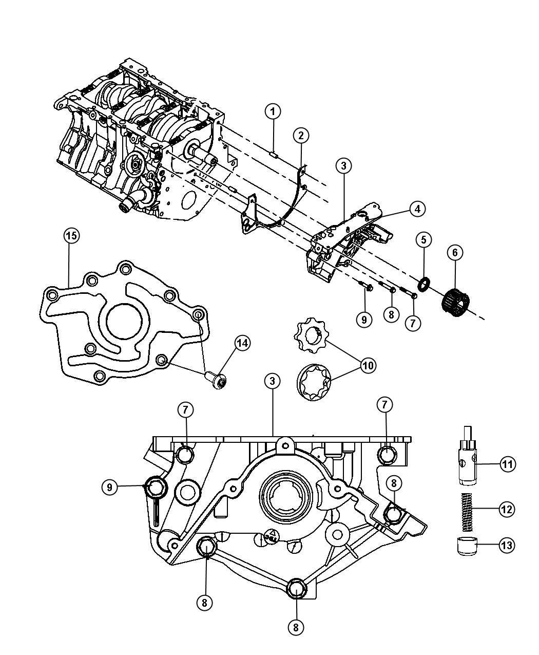 Dodge Journey Engine Oiling Pump 3 5l 3 5l V6 High
