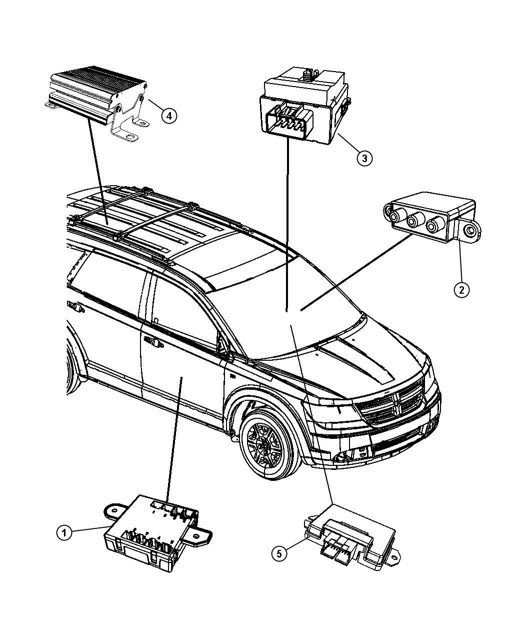 Dodge Journey Module Electric Clutch Control Viscous