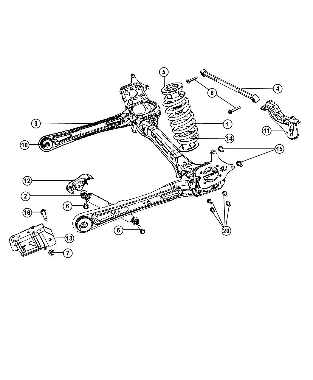 Chrysler Town Amp Country Shock Absorber Kit Suspension