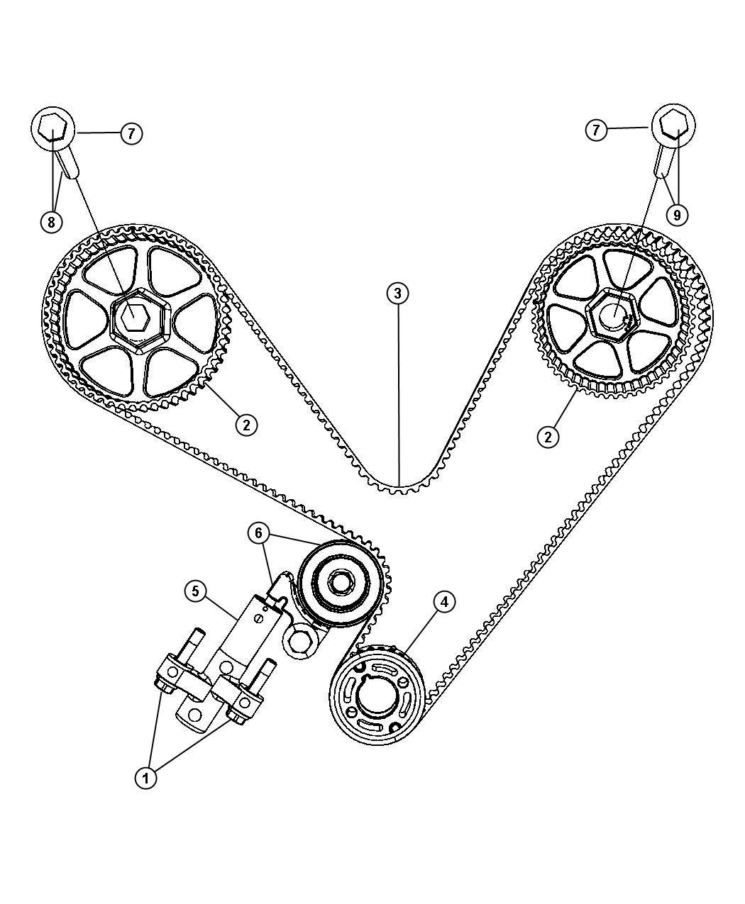 Timing System 4 0l 4 0l V6 Sohc Engine