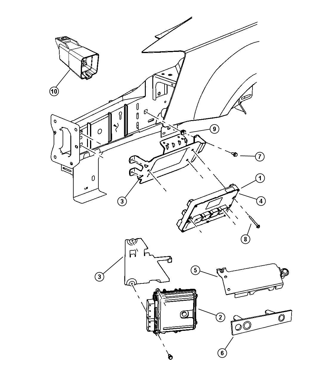 2006 Town And Country Engine Compartment Diagrams