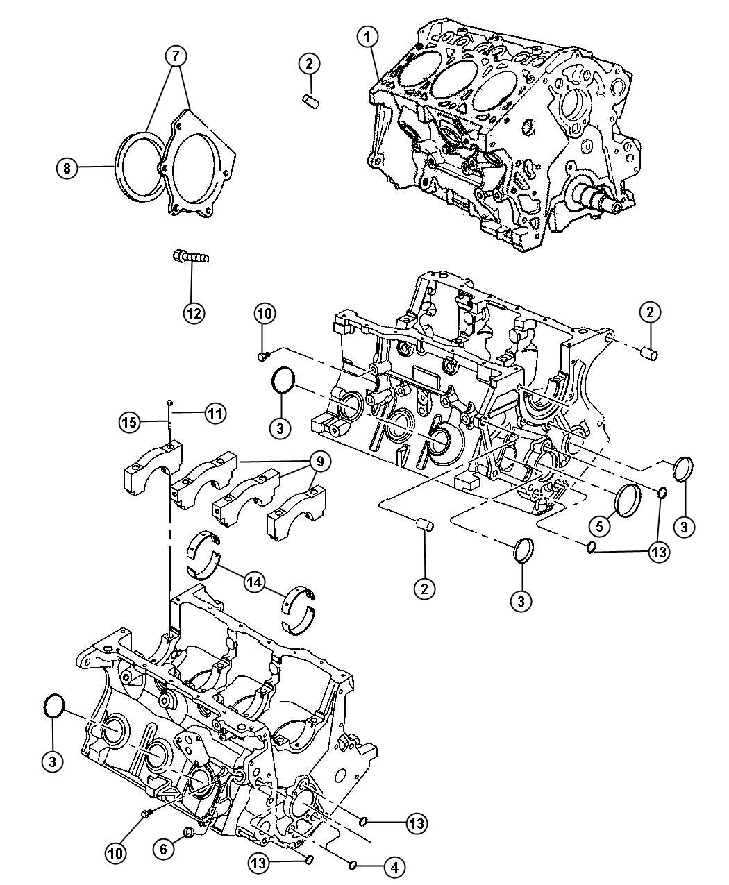 Dodge Grand Caravan Engine Short Block Tappet Bore
