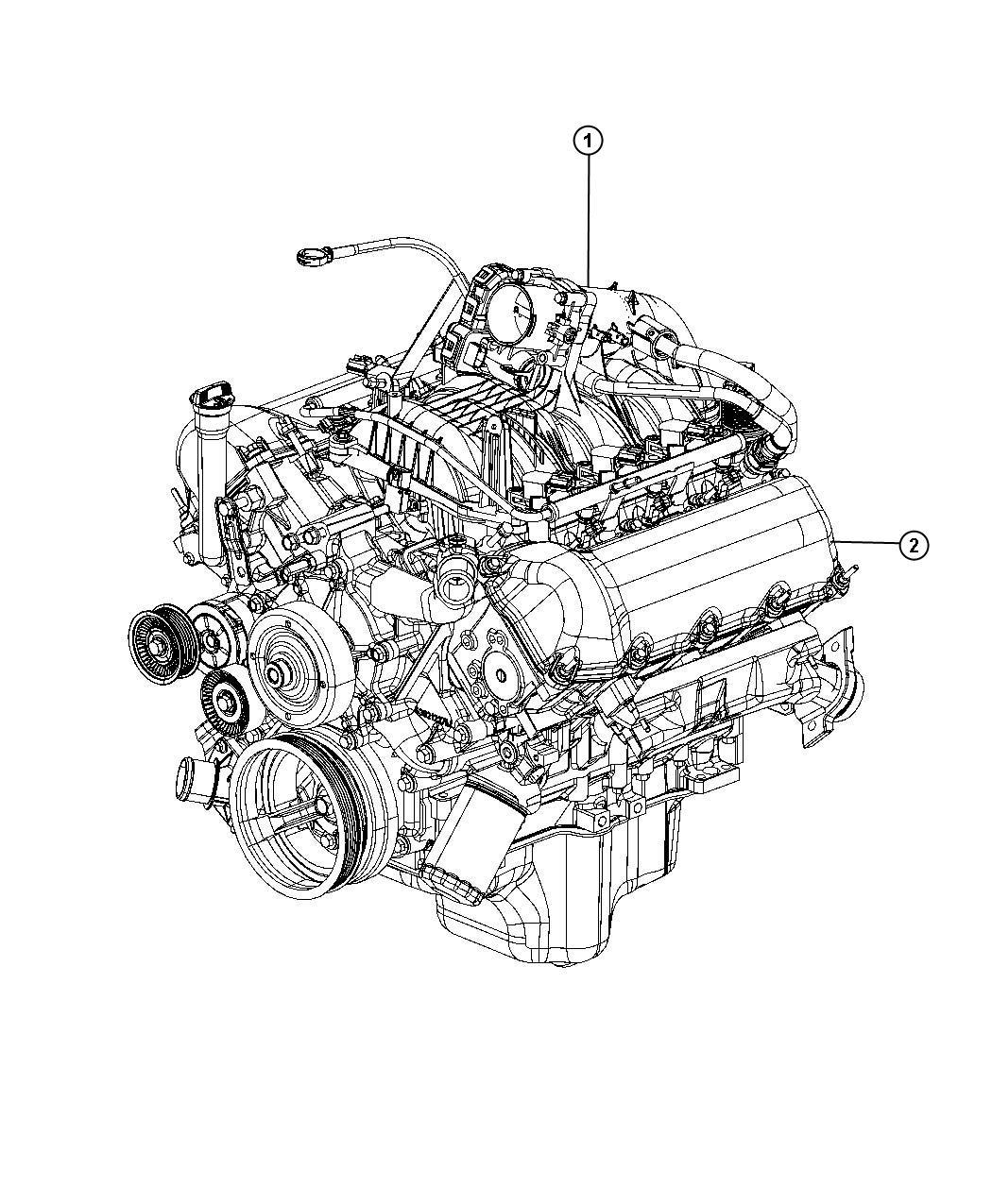 Dodge Nitro Engine Long Block Remanufactured