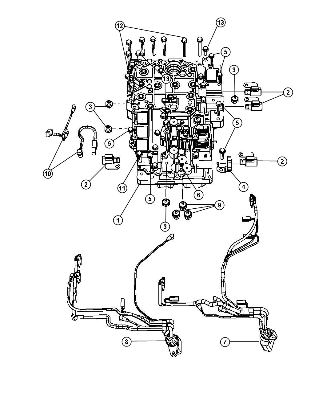 Dodge Ram Harness Wiring Transmission 12 Pin