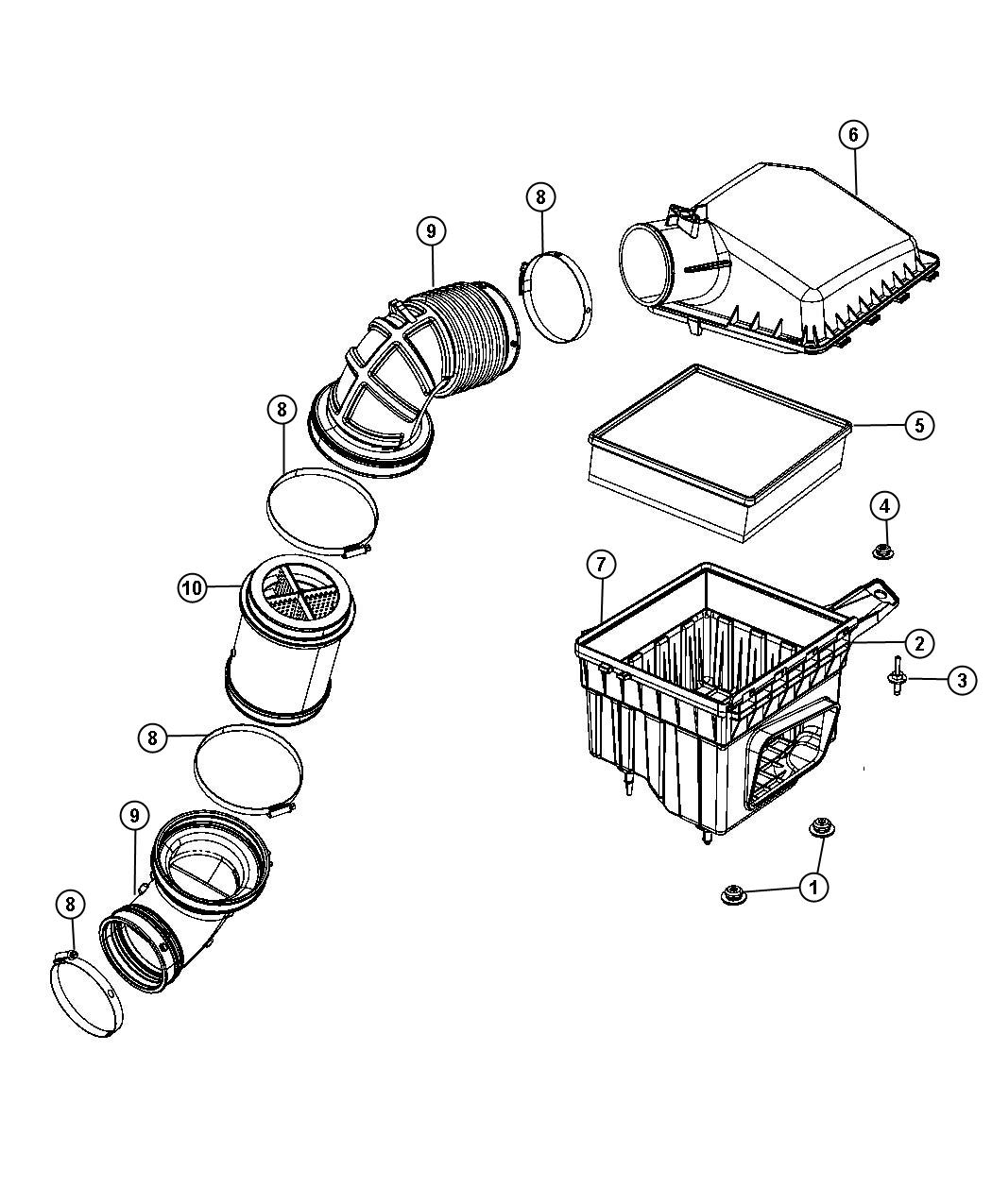 Dodge Magnum Gauge Sensor Air Flow Air Restriction