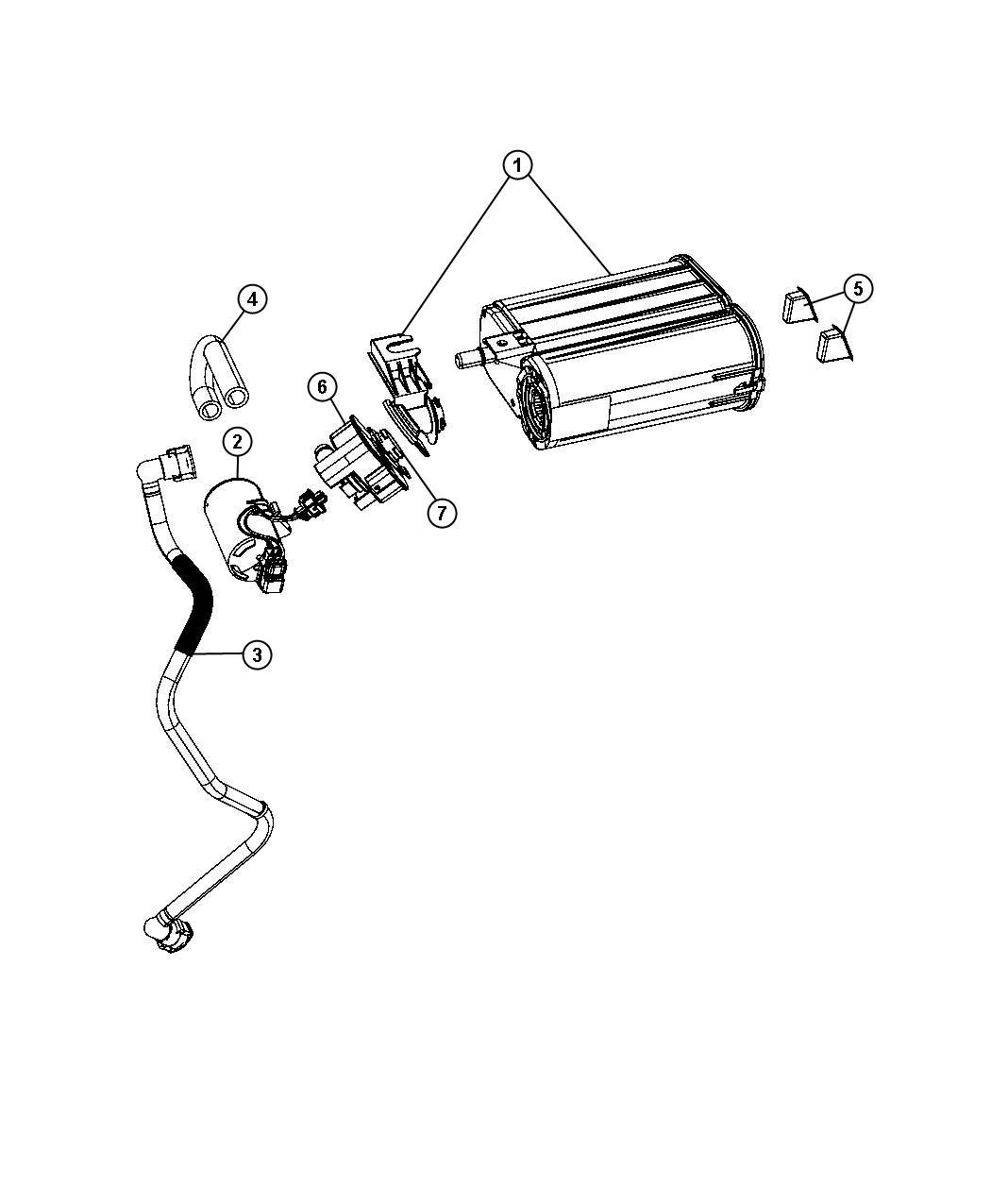 Dodge Grand Caravan Filter Leak Detection Pump Leak