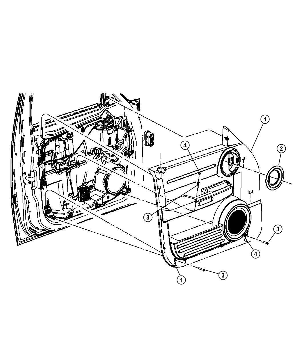 Dodge Nitro Handle Inside Remote Control Right