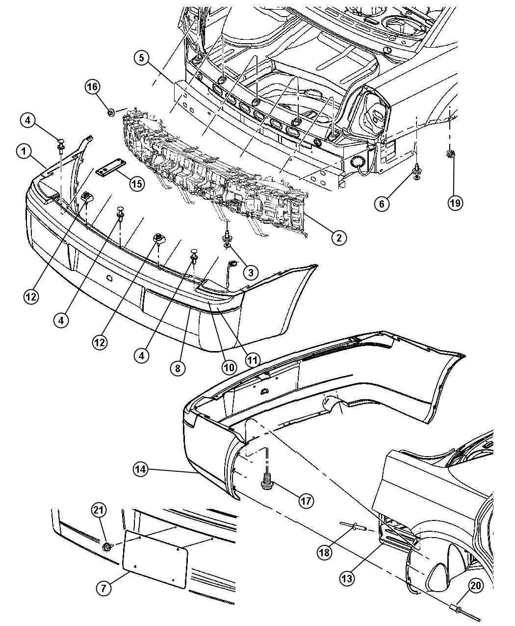 Dodge Challenger Bumper Diagram