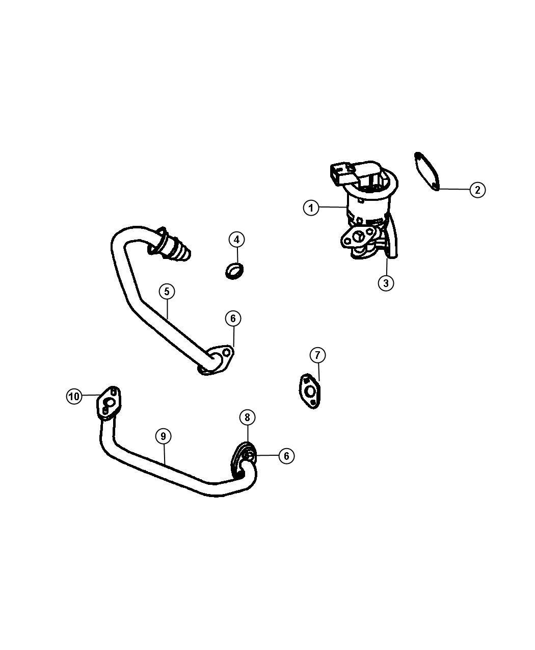 Dodge Charger Tube Egr Valve To Intake Plenum