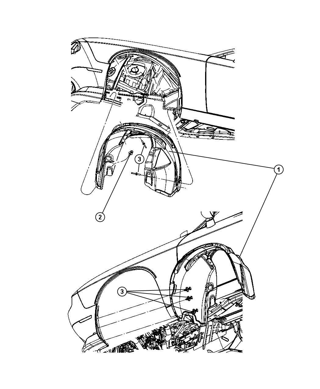 Dodge Challenger Shield Splash Front Right