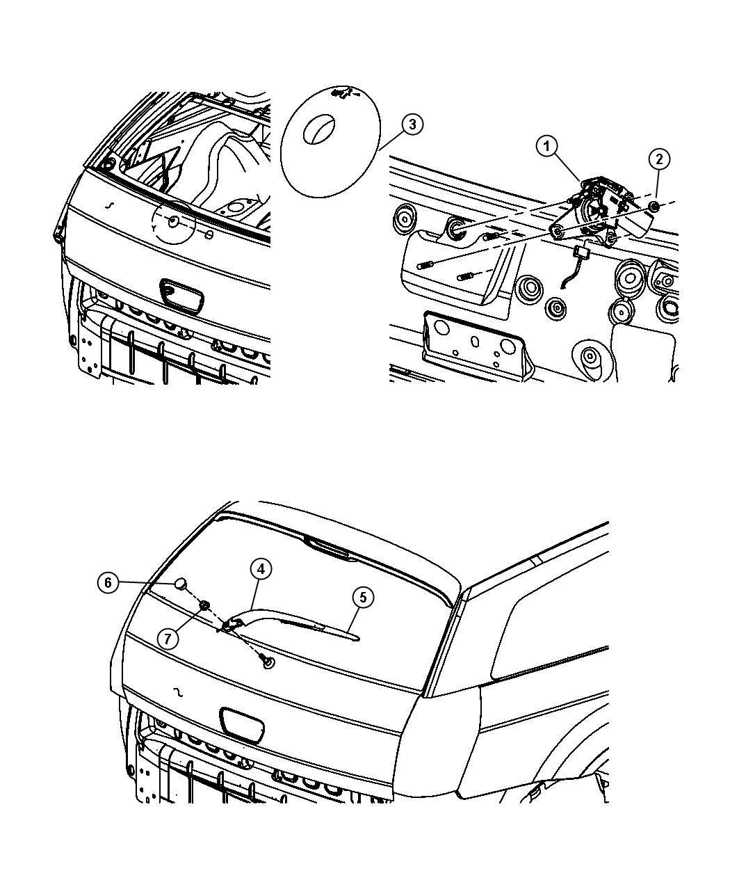Dodge Nitro Blade Rear Window Wiper Rear Wiper