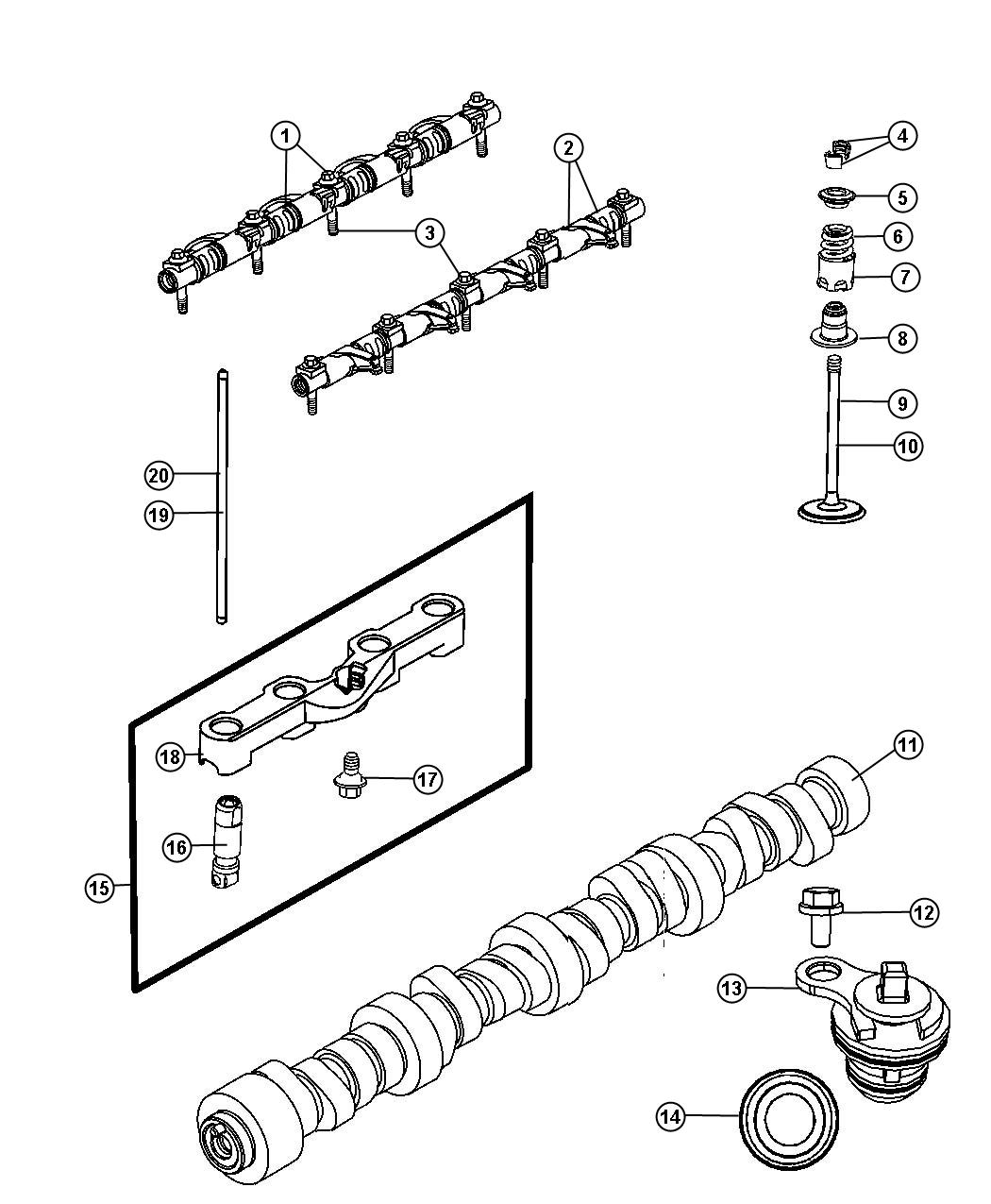 Chrysler 300 Seal Valve Guide Exhaust Intake