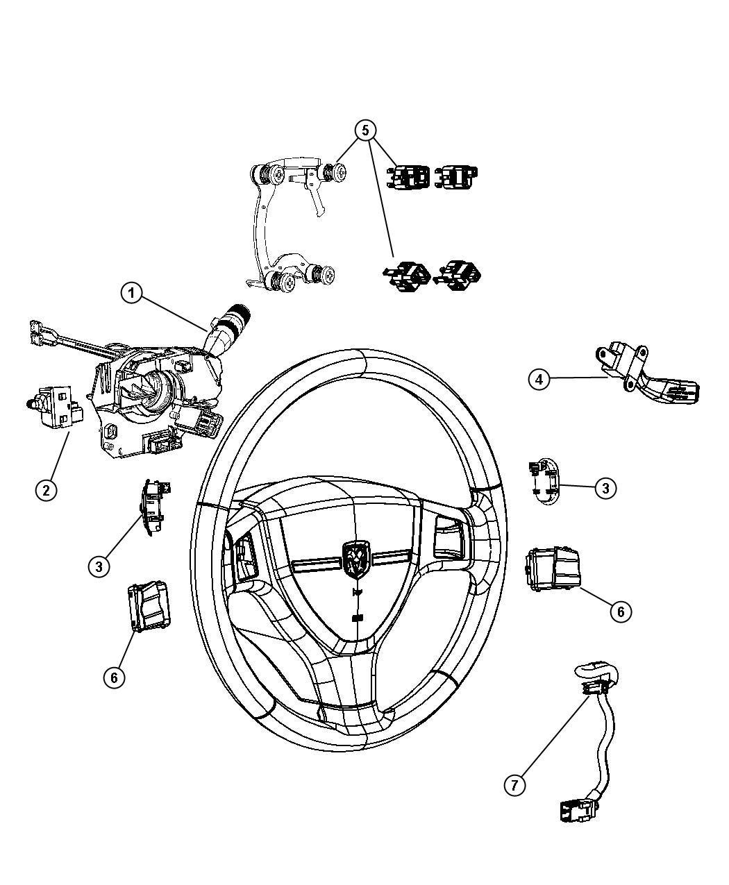 Dodge Ram Steering Column Parts Diagram