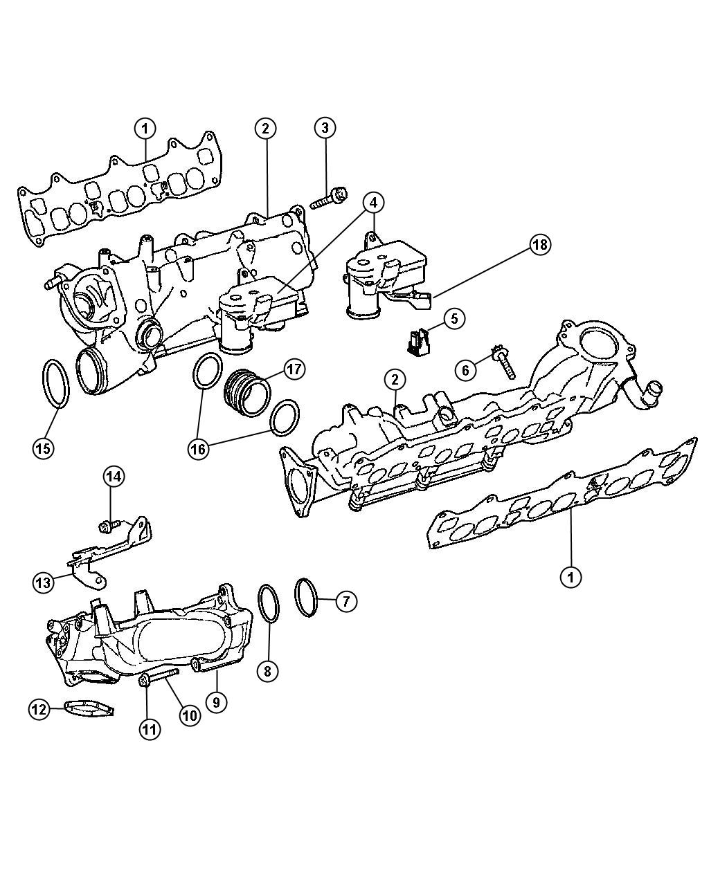 Jeep Grand Cherokee Clip Swirl Actuator