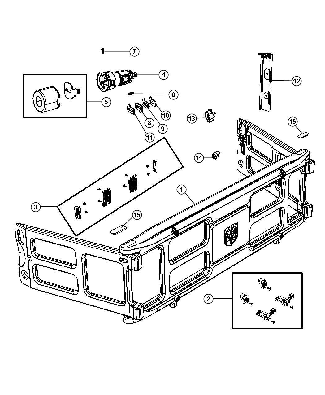 Dodge Ram Bumper Kit Truck Bed Divider Plastic