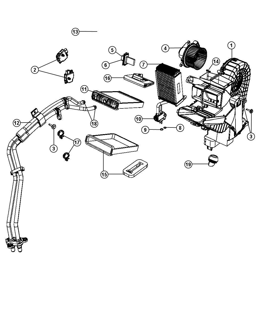 Chrysler Town Amp Country Rear Ac Actuator Motor