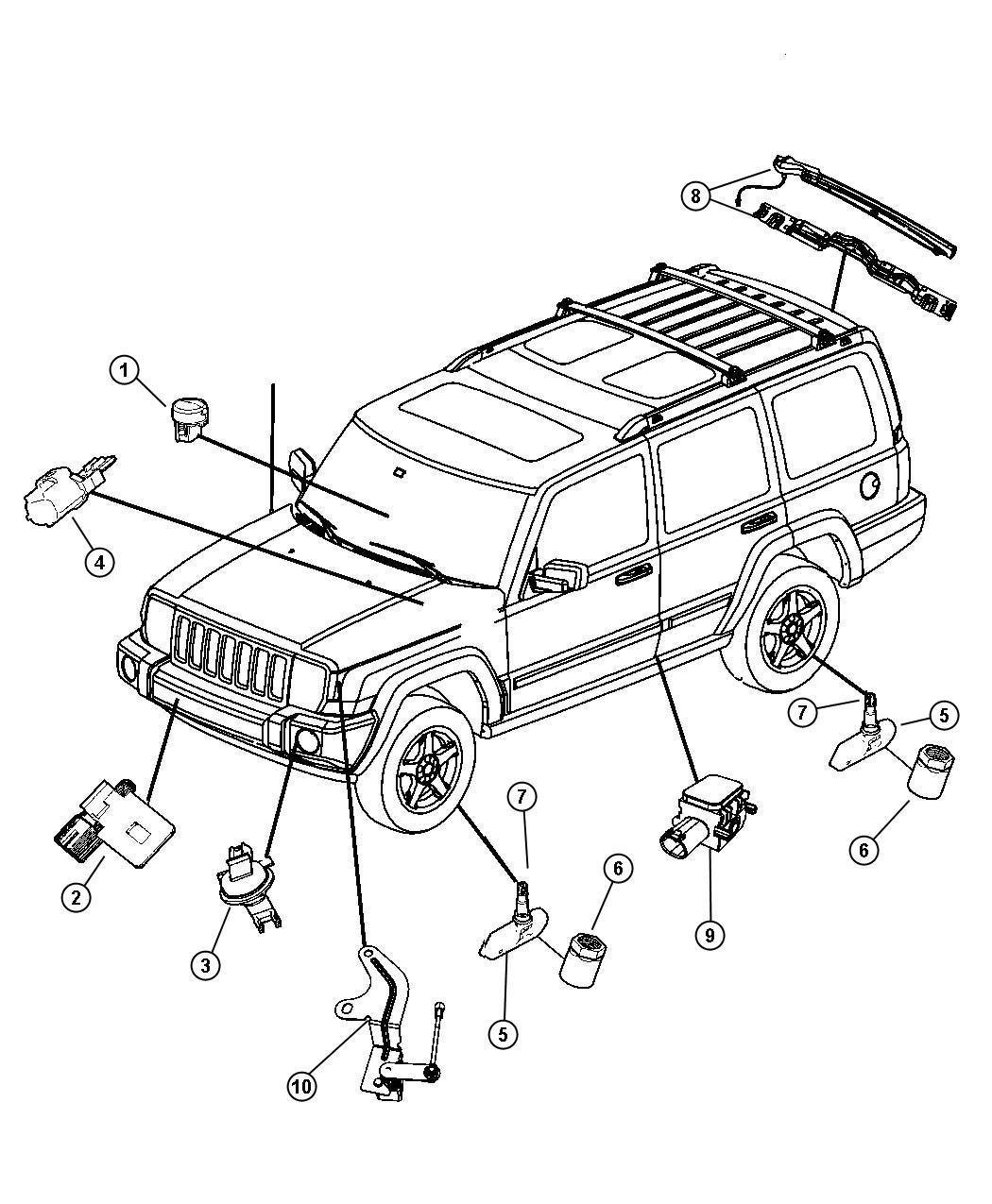 Chrysler 300 Sensor Ambient Temperature