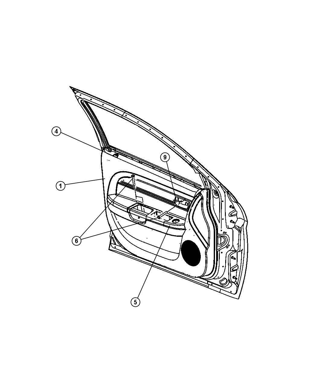 Chrysler Sebring Bezel Switch Left Right Front Trim