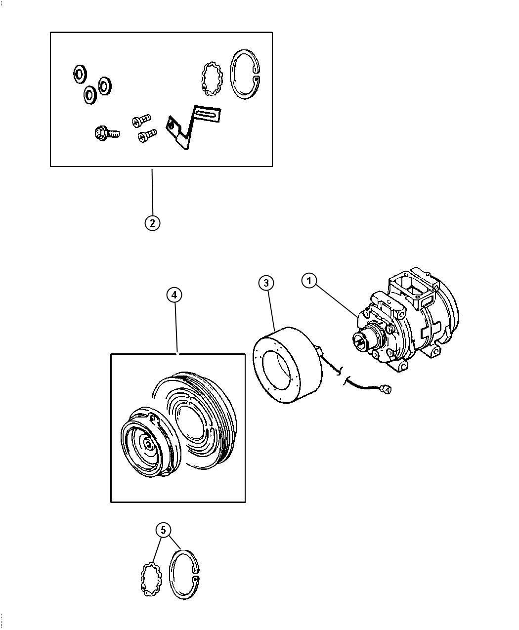 Chrysler Pt Cruiser Coil Air Conditioning Clutch