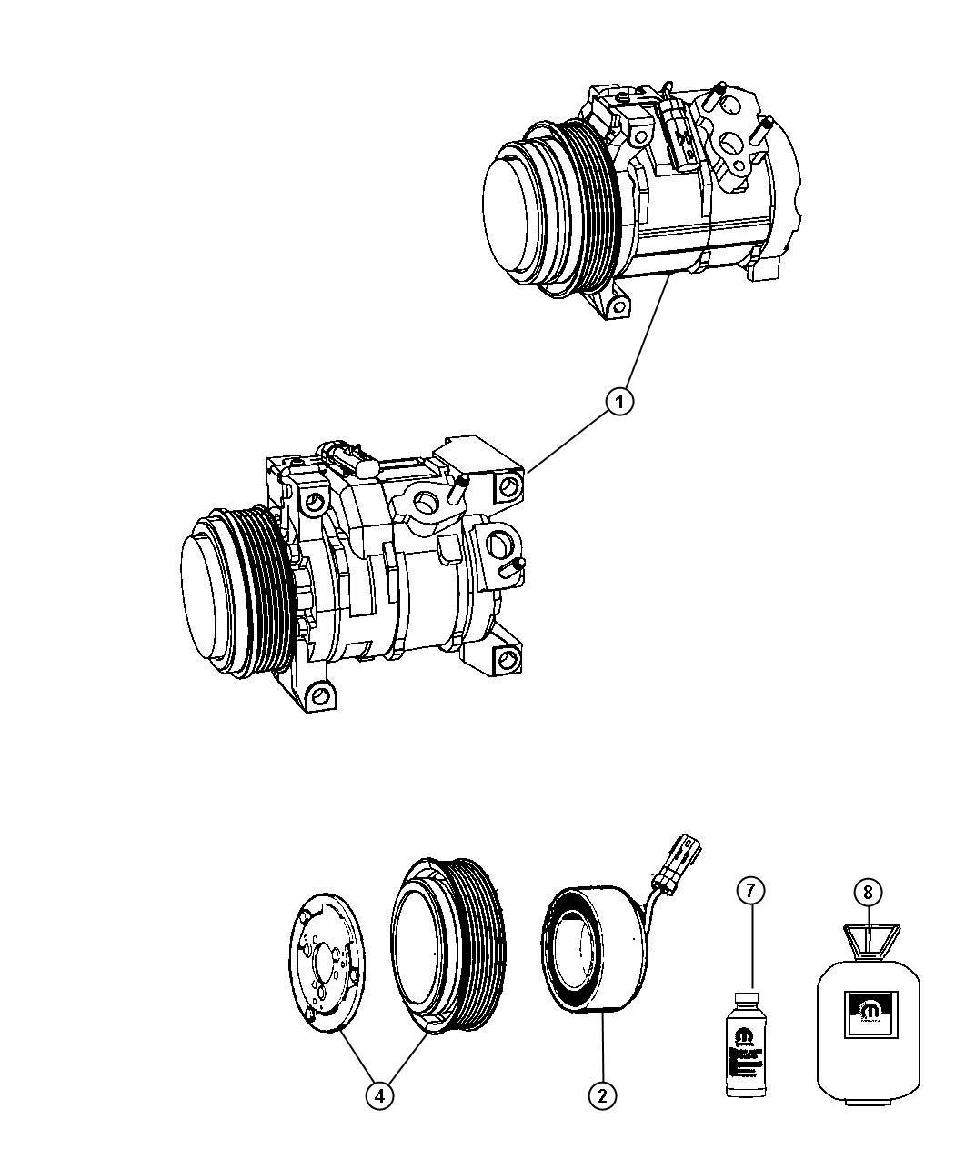Dodge Avenger Refrigerant Electric R134a A C Compressor