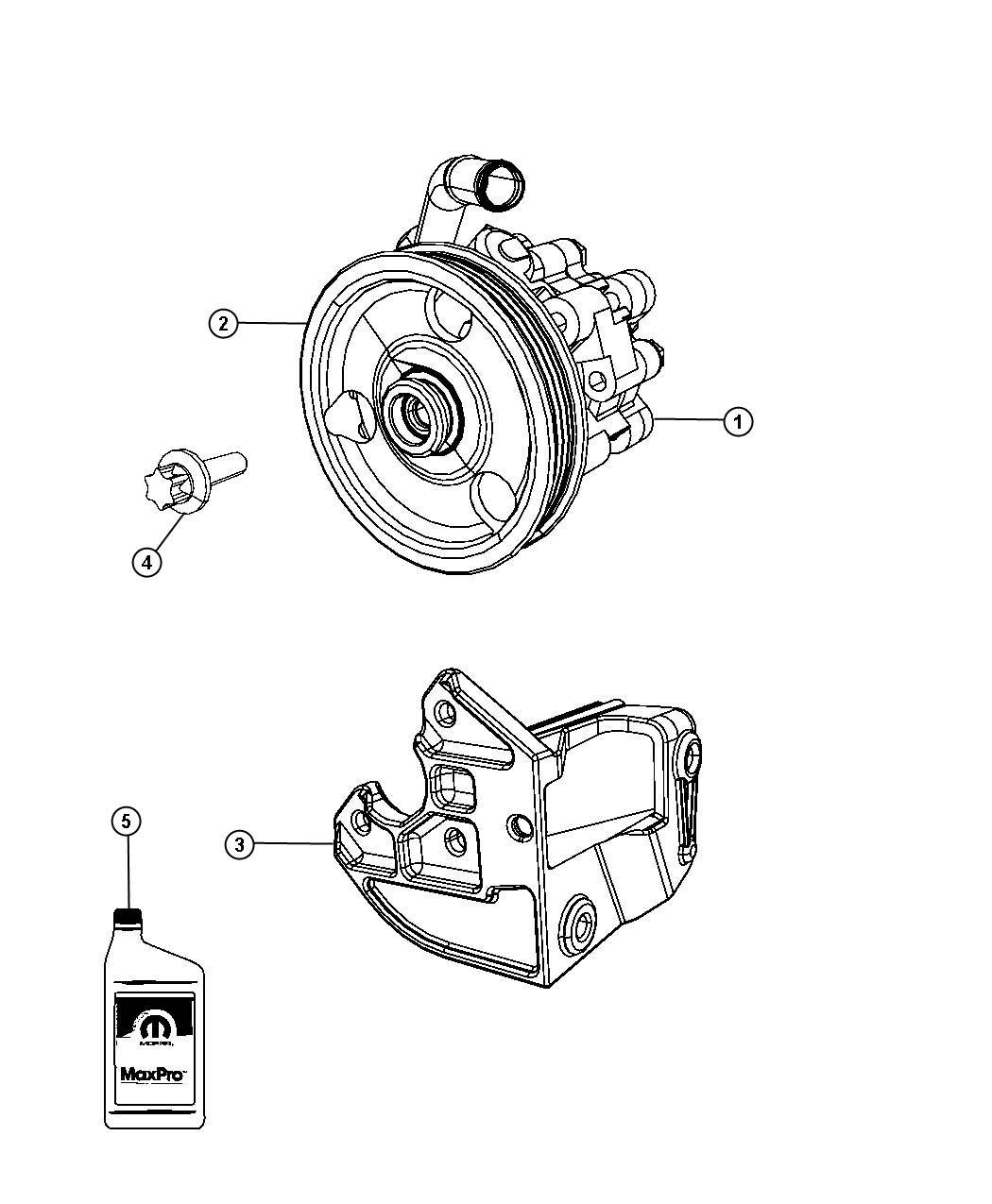 Dodge Stratus Pulley Power Steering Pump