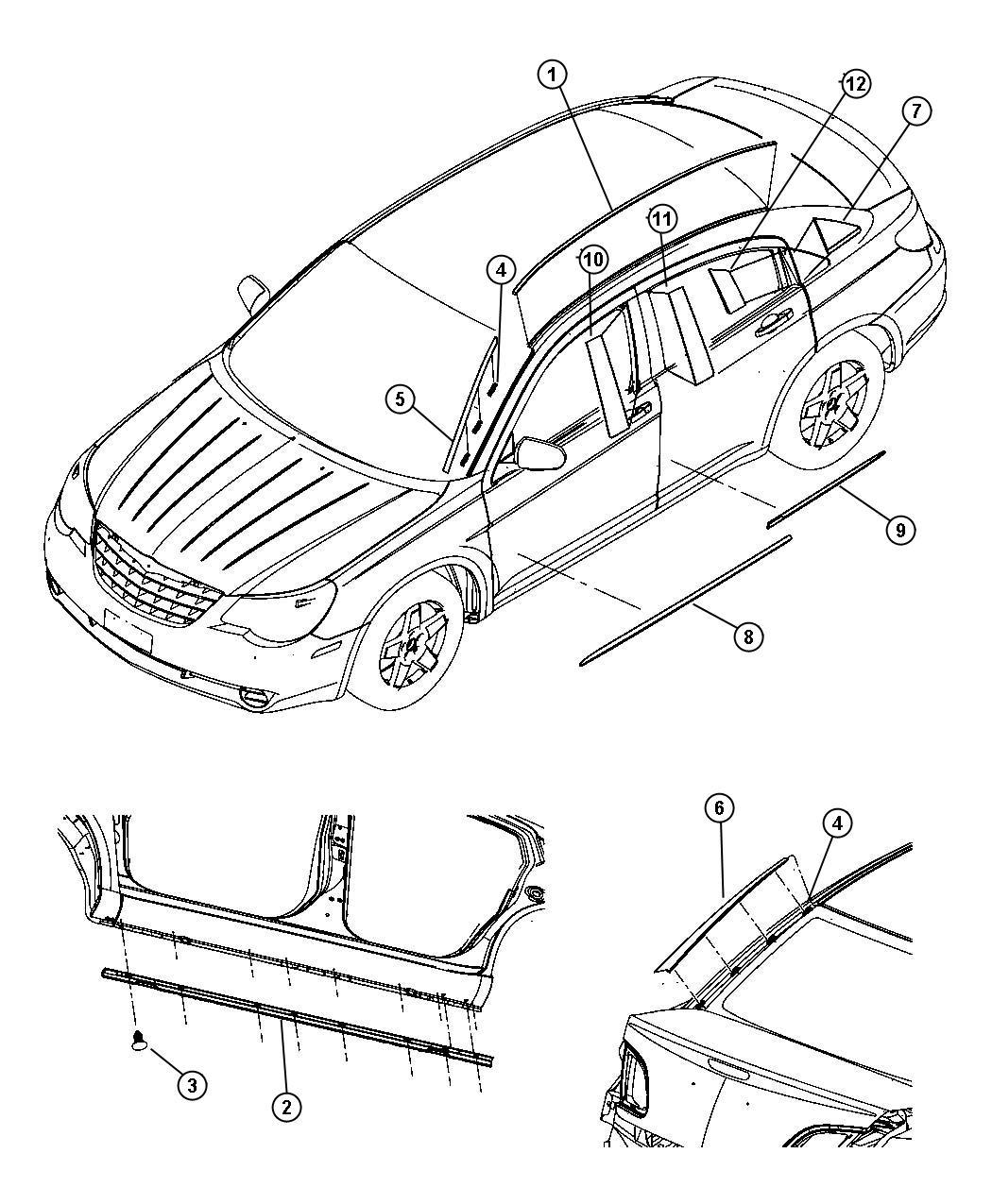 Chrysler 200 Sill Body Side Left Sills