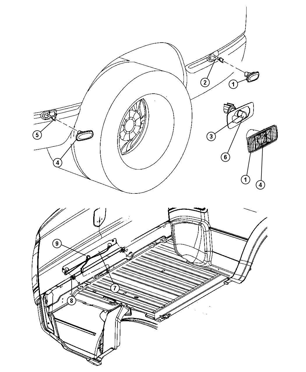 Dodge Ram Wiring Fender Lamp Rear Lampsbox Dually