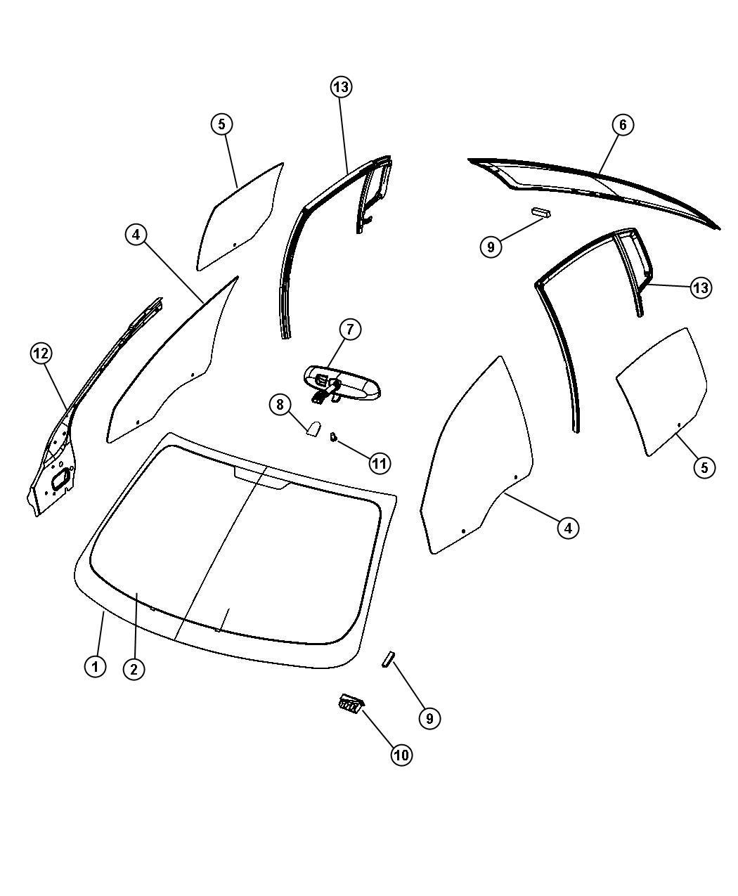 Chrysler Sebring Backlite Backglass Defrosterfront