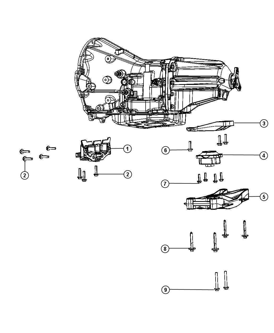 Chrysler 300 Crossmember Transmission