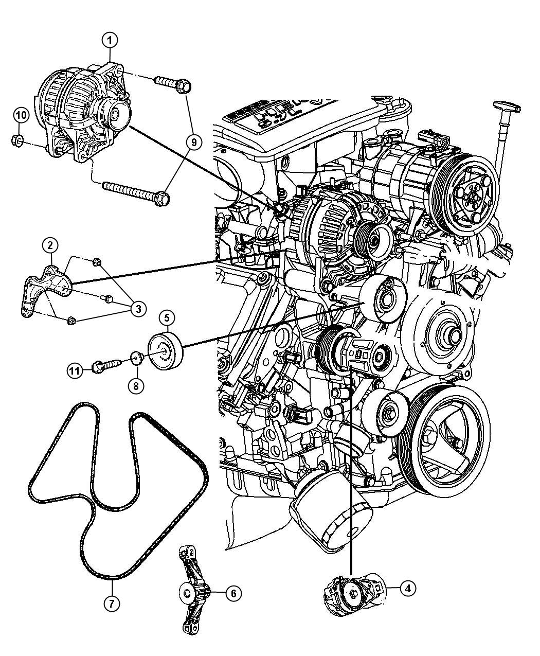 Dodge Ram Belt Serpentine Vbelts Serentine