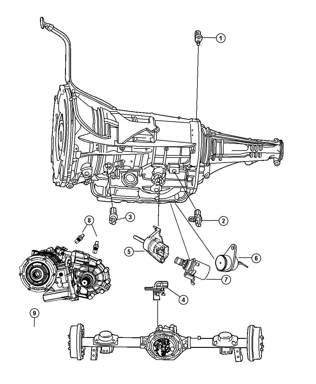 Dodge Ram Sensor Rear Right Or Left Wheel