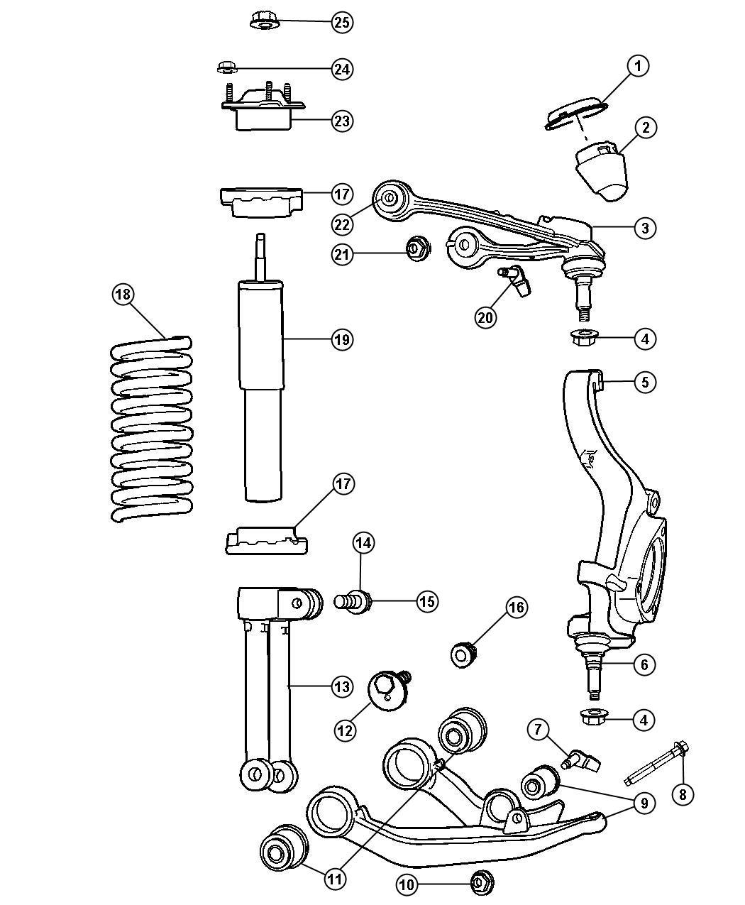 Dodge Nitro Shock Absorber Kit Shock Absorber Package