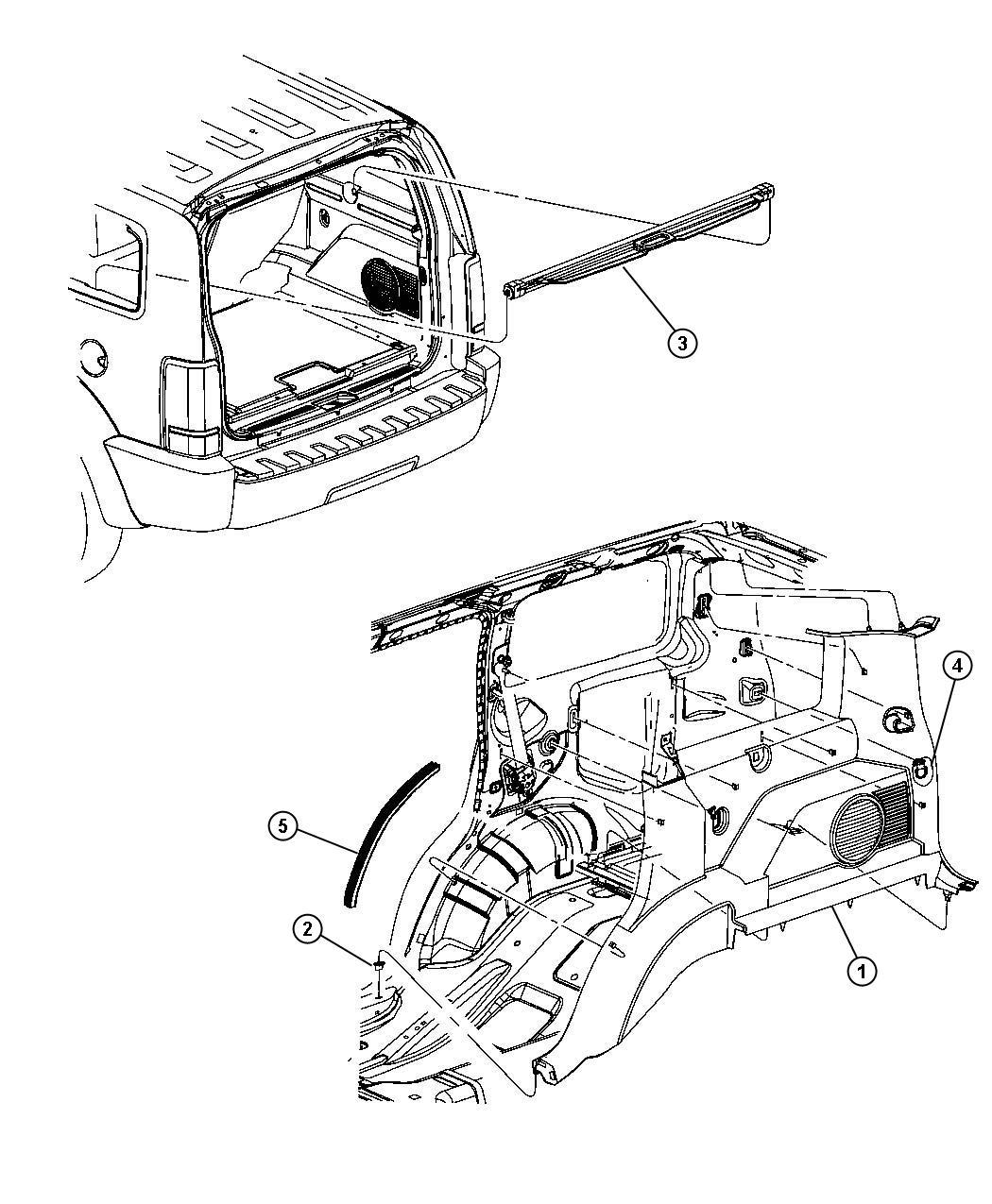 Jeep Liberty Molding Headliner Df Dk Dt Dv