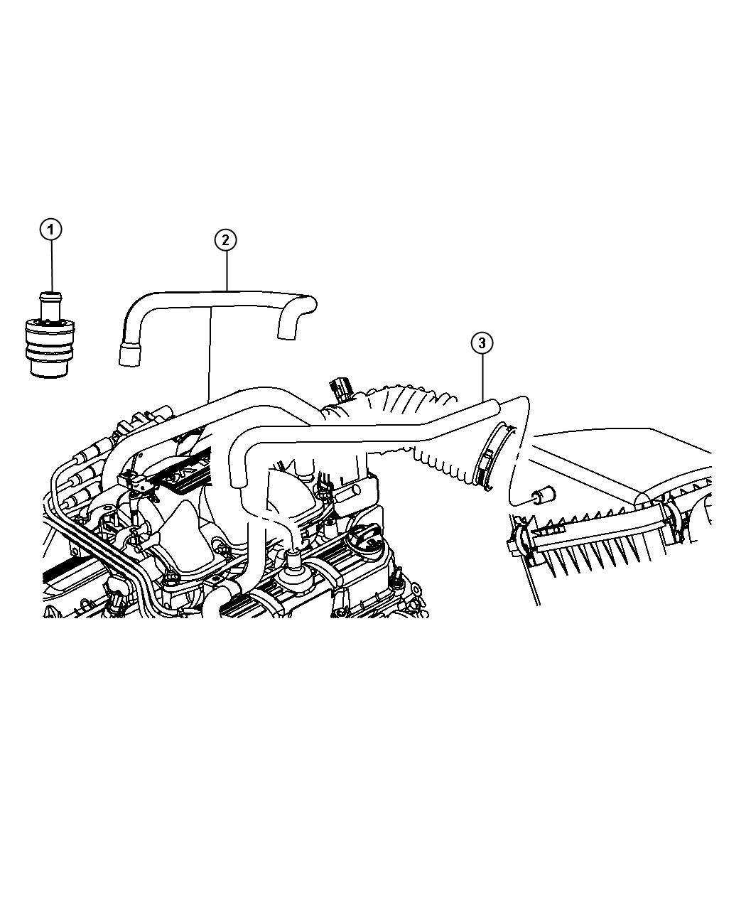 Jeep Wrangler Hose Crankcase Vent Make Up Air Egt