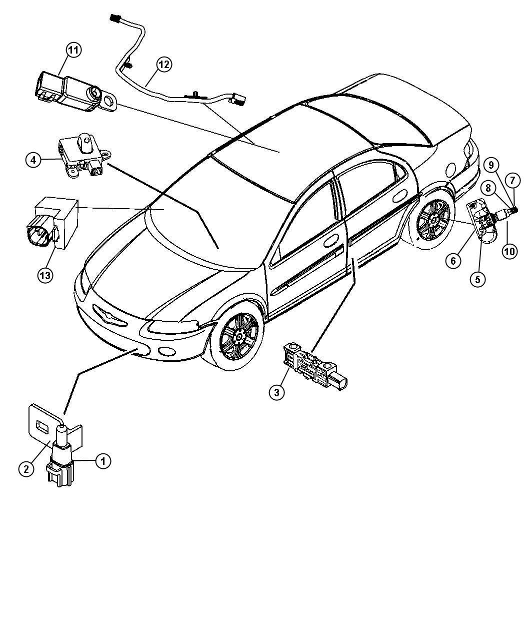 Chrysler Sebring Sensor Air Temperature Temperature