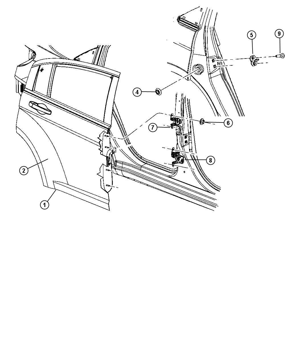 Chrysler Sebring Panel Rear Door Outer Right