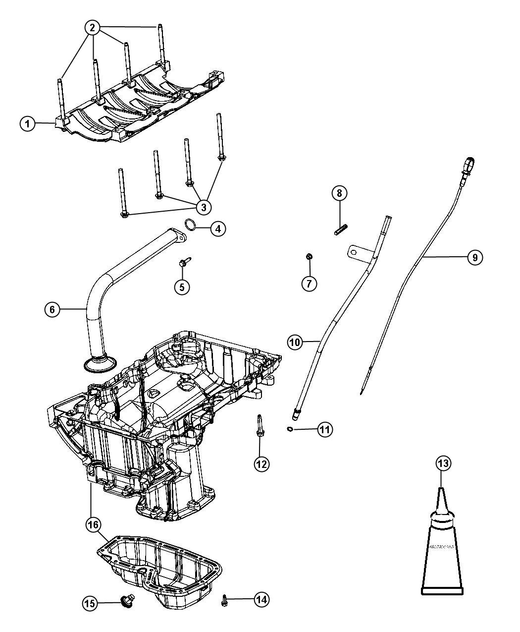 Dodge Journey Pan Engine Oil Lower