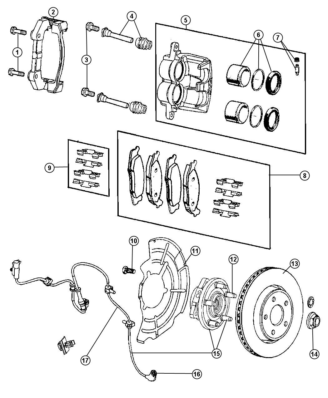 Jeep Grand Cherokee Rotor Brake Front