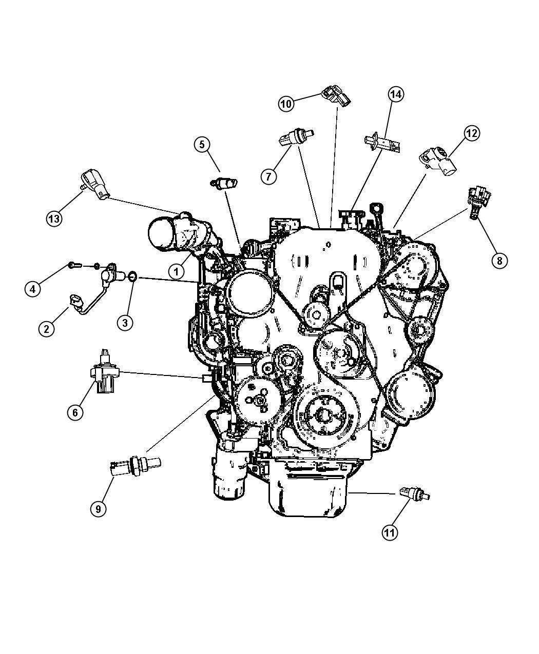 Dodge Caliber Sensor Crankshaft Position Eba