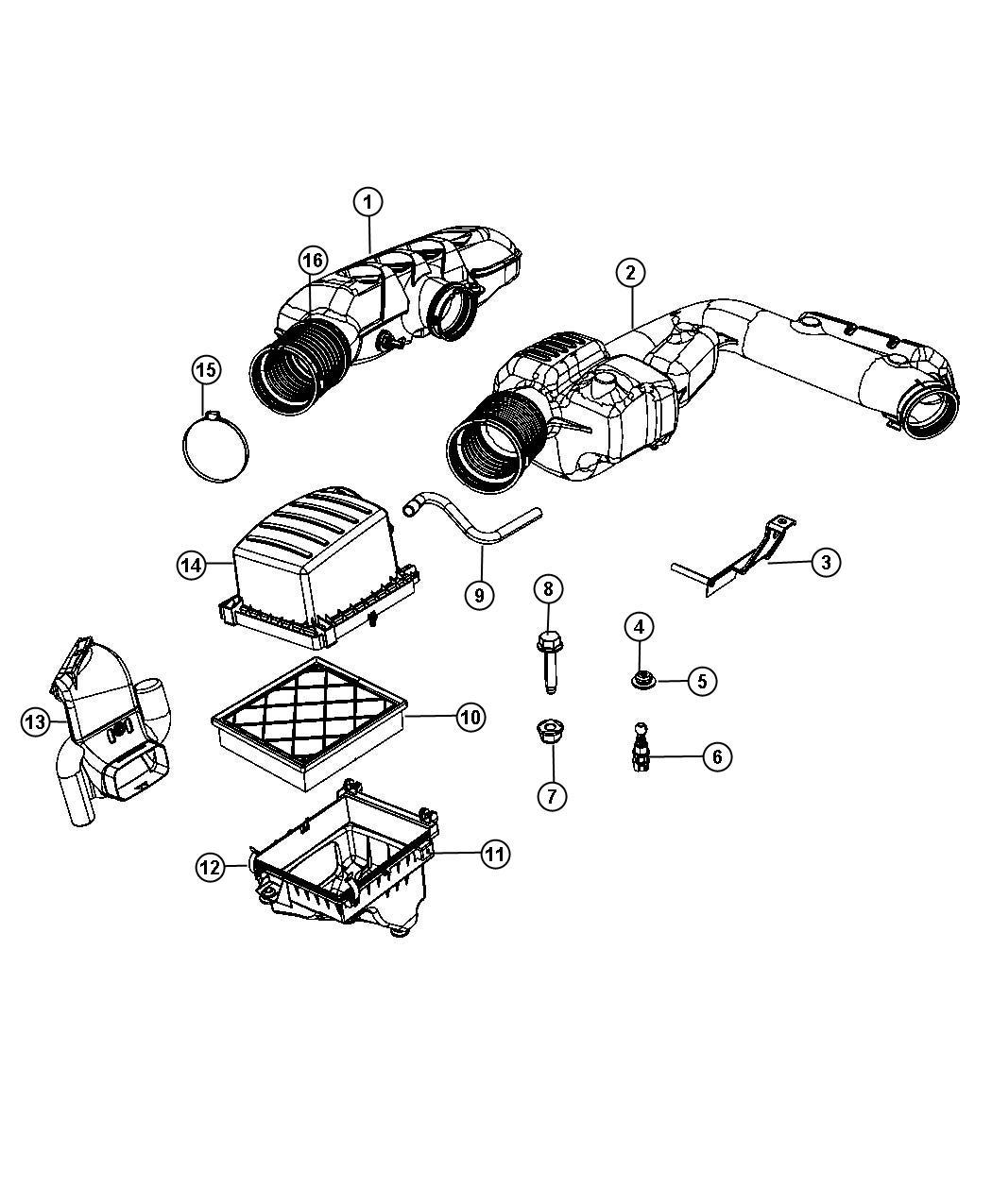 Dodge Durango Hose Resonator Air Cleaner Clean Air