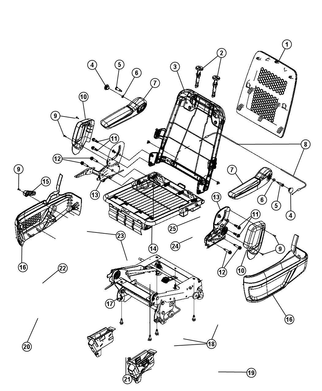 Dodge Grand Caravan Handle Seat Release Right Trim