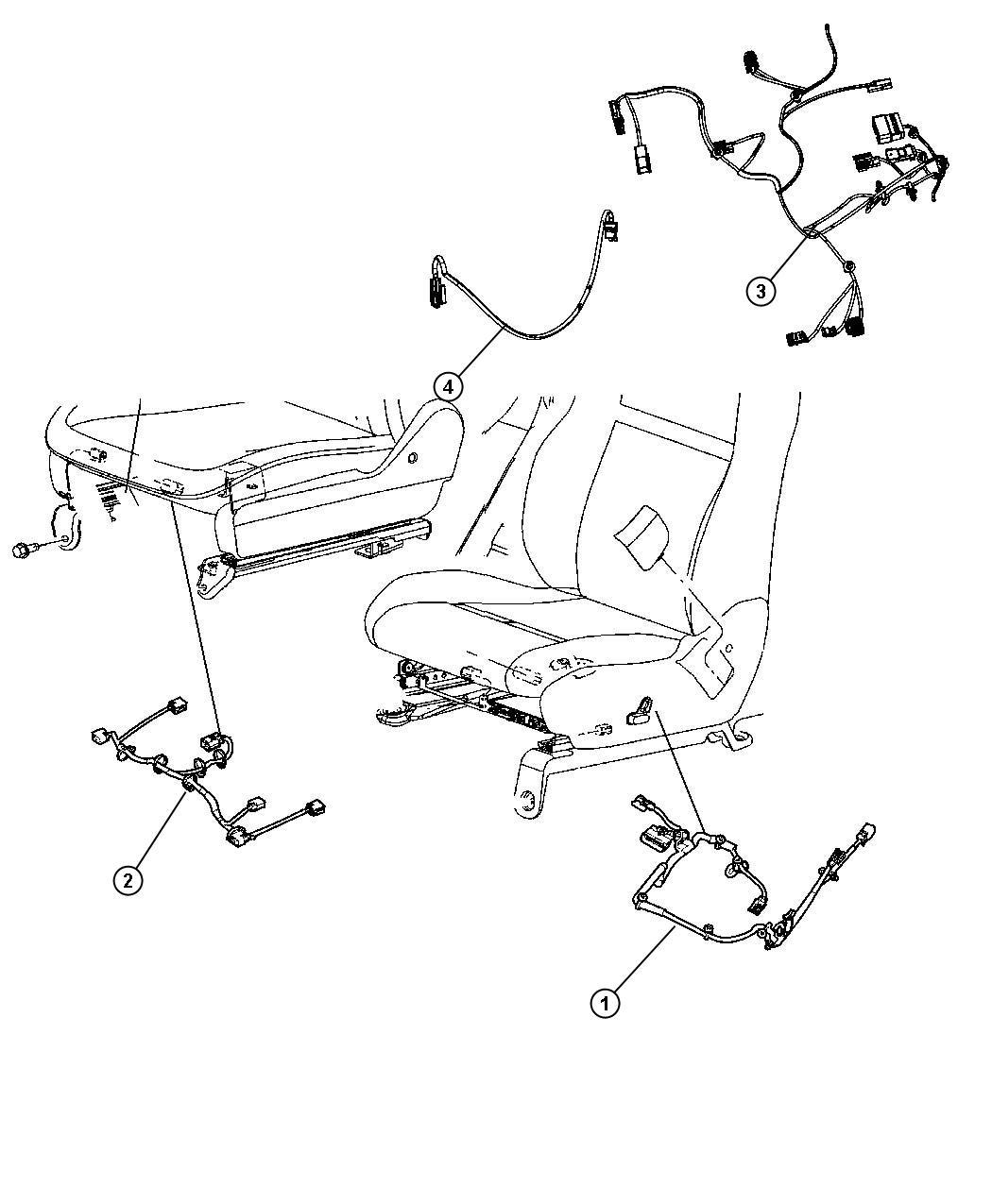 Chrysler Town Amp Country Wiring Power Seat Seat Trim