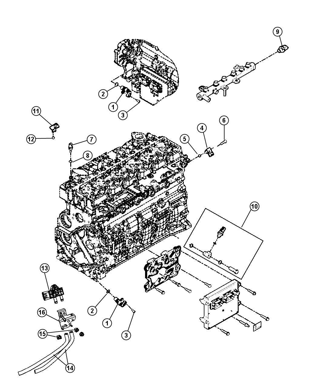 Dodge Ram Sensor Temperature Sending Unit