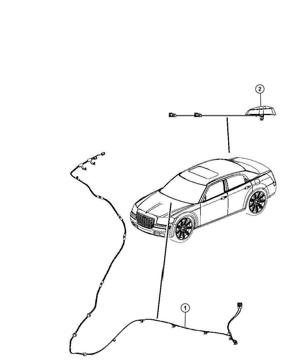 Chrysler 200 Cable Wiring Radio Satellite Radio