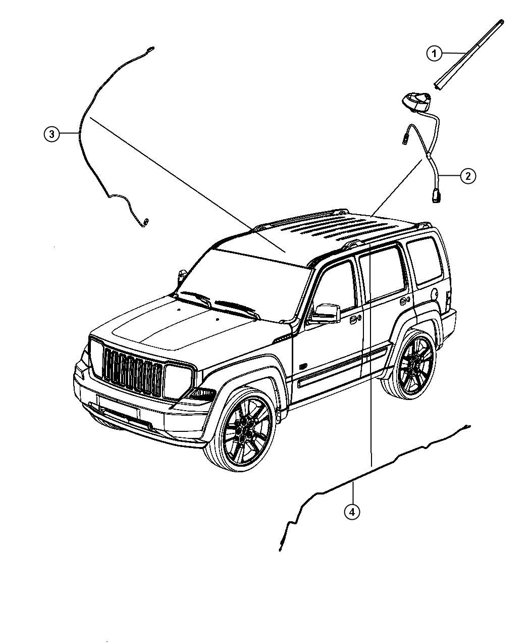 Jeep Liberty Antenna Used For Base Cable And