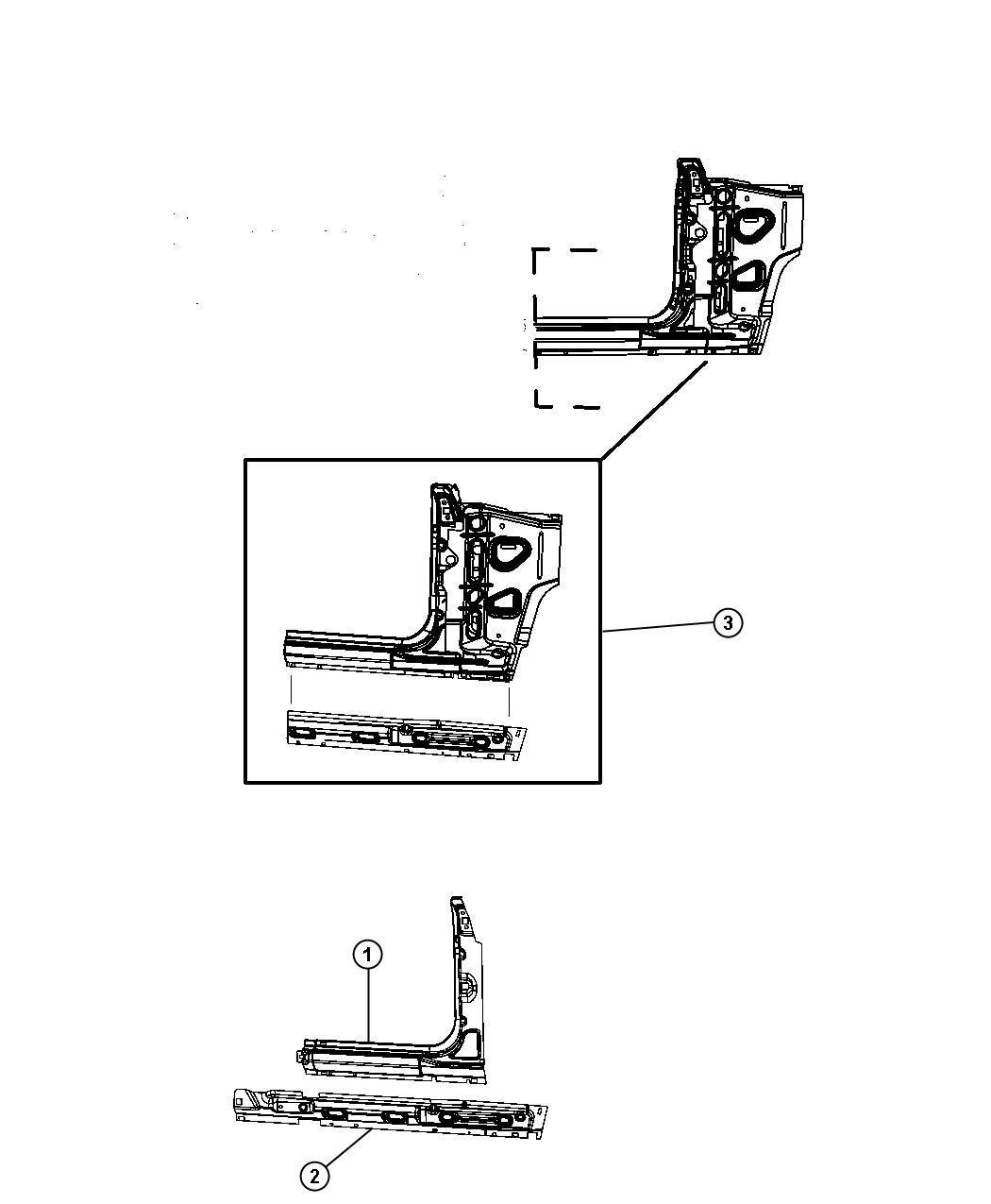 Jeep Wrangler Panel Body Side Aperture Front Left