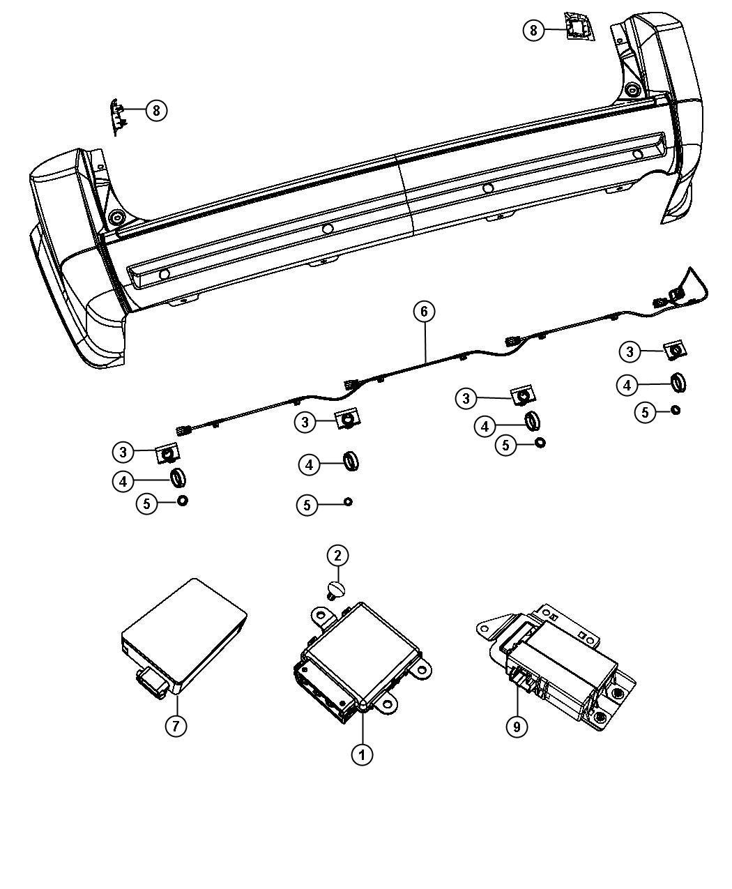 Chrysler Town Amp Country Module Blind Spot Detection